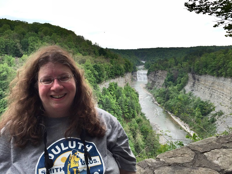 Diane Schirf at Letchworth State Park, New York