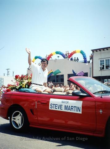 West Hollywood Mayor Steve Martin at San Diego LGBTQ Pride Parade, 1998