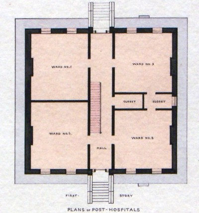 Governor's Island, NY Old Post Hospital First Floor Plan 1 ...