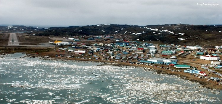 Iqaluit in front glacial lake