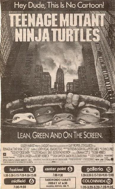 1990 Teenage Mutant Ninja Turtles The Movie Newspaper Ad Flickr