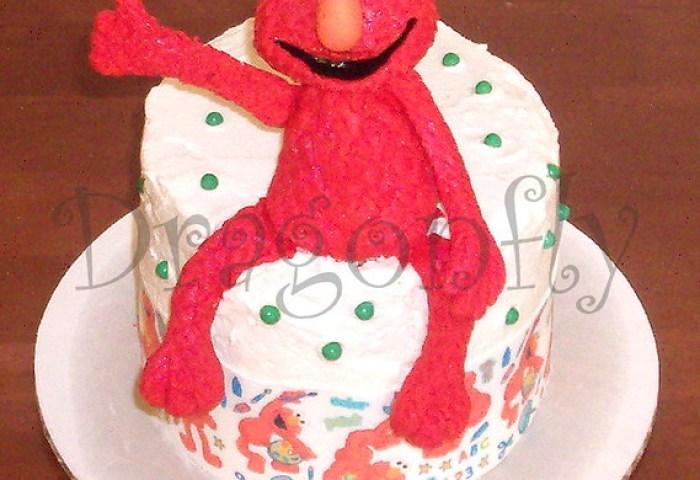 Elmo Smash Cake 100 Edible Wwwdragonflycustomcakescom Terri