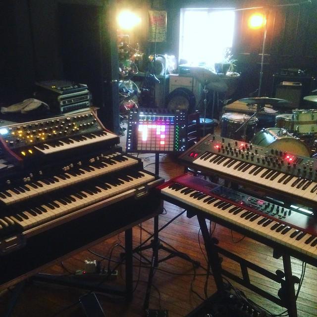 "Rehearsal setup for ""Beyond Belief"""