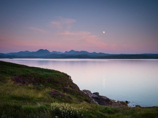 Moonrise over the Torridon Mountains II