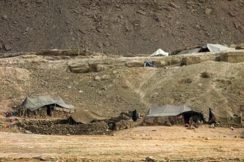 Bakhtiari nomad camp