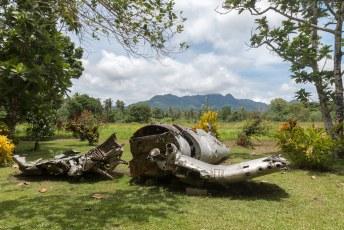 Rond dit eiland is in de tweede wereldoorlog zeer zwaar gevochten.