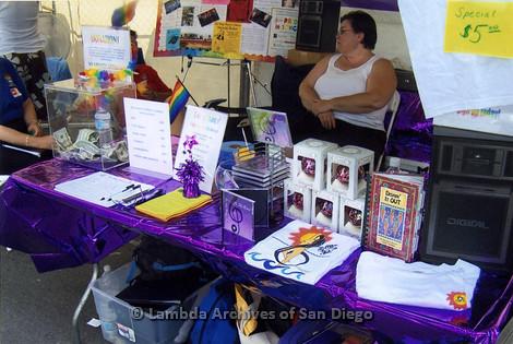 San Diego LGBT Pride Festival, July 2006: San Diego Women's Chorus LGBT Pride Festival Booth.
