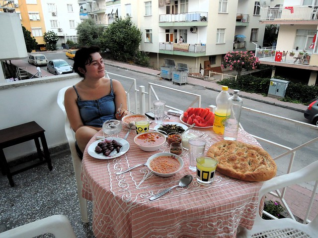 Gamze waiting for iftar -- she had some dates and water before getting to the cigarette by bryandkeith on flickr