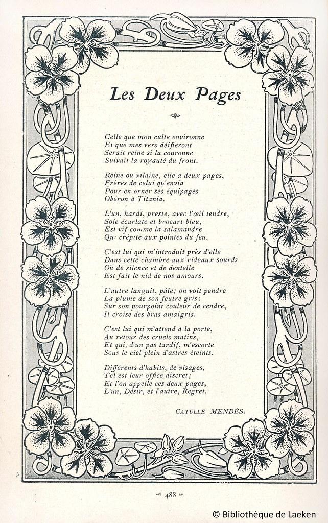 Mise En Page Du Po 232 Me Quot Les Deux Pages Quot De Catulle Mend 232 S