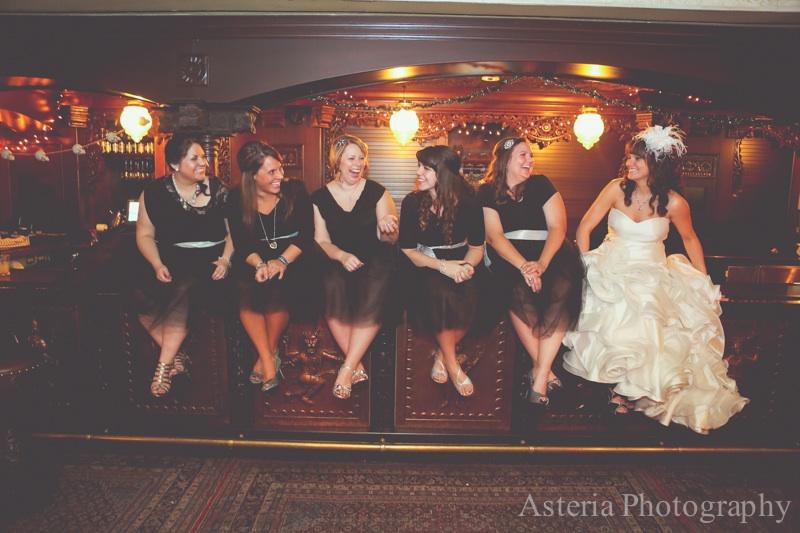 Candid bridesmaids photo