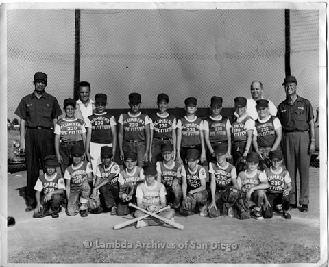 P338.089m.r.t Charles McKain's little league baseball team (fourth kid from left, second row)