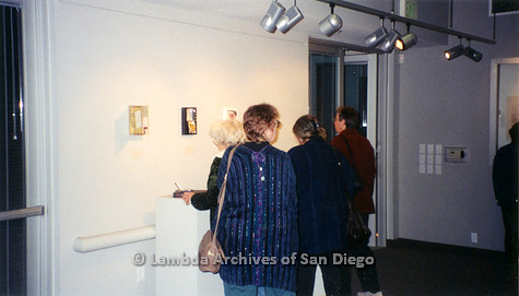 P126.045m.r.t Michelangelo Project by Jim Machecek: One visitor looking at exhibit piece
