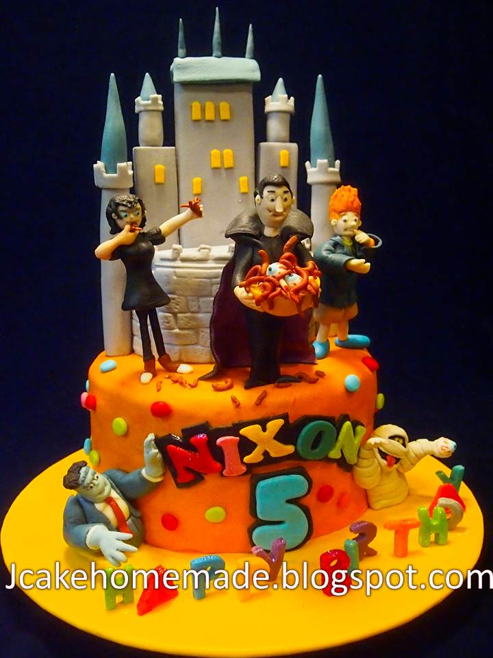 Hotel Transylvania Cake Happy 5th Birthday Nixon Thanks