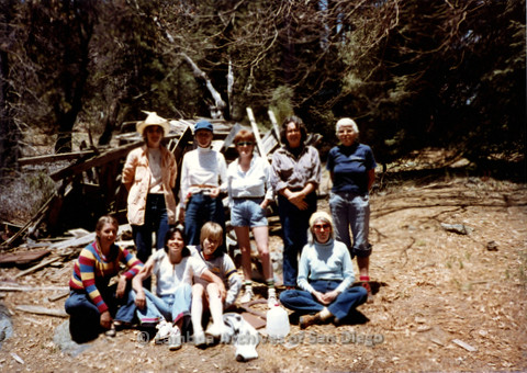 P008.030m.r.t Mt. Palomar 1983: Group photo at Asher's Cabin