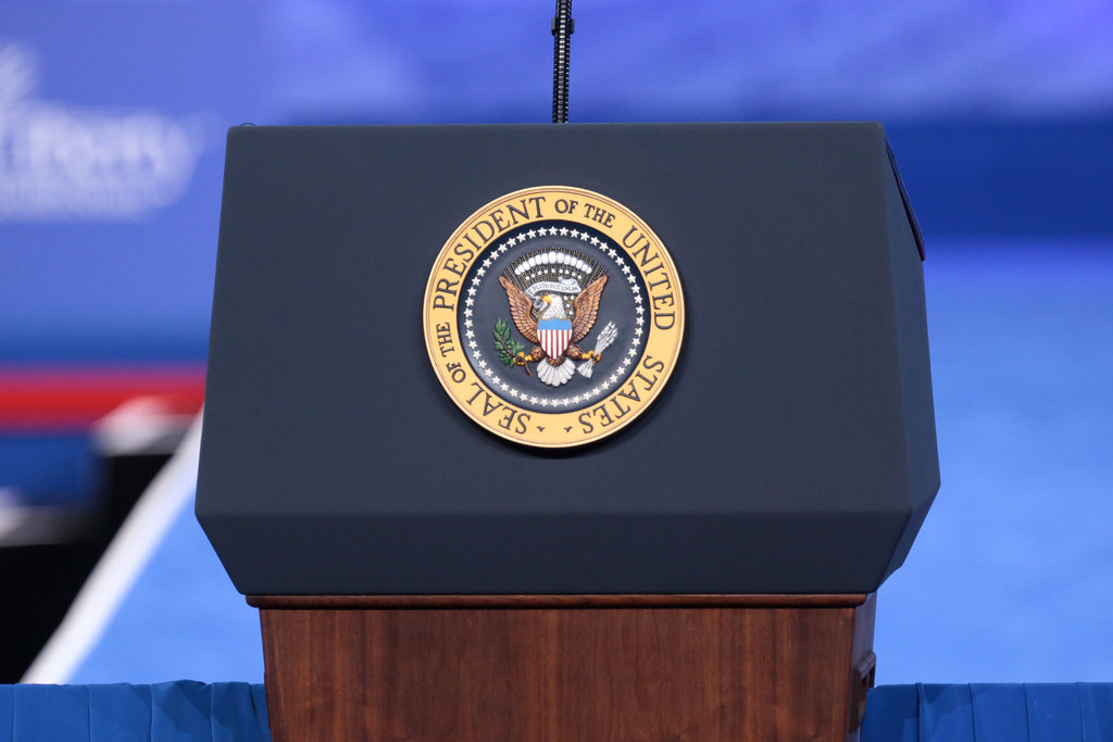 Presidential Podium The Presidential Podium At The 2017