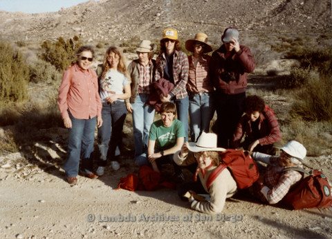 P008.063m.r.t In-Ko-Pah Mountains 1984: End-of-day group photo