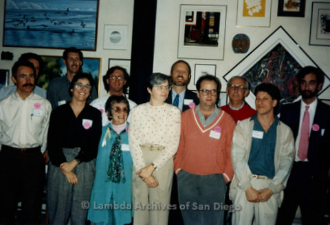 P341.002m.r.t San Diego Democratic Club 1991 installation: Group photo