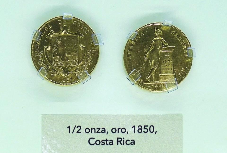 1850 Monedas Años 1850-1899  Museo Numismática Banco Central San José de Costa Rica 03
