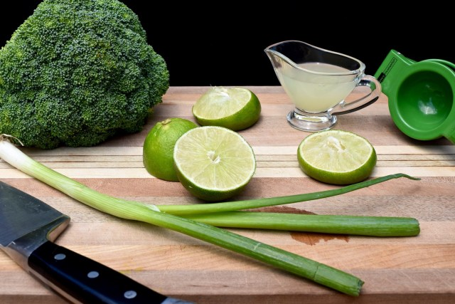 green ingredients and tools