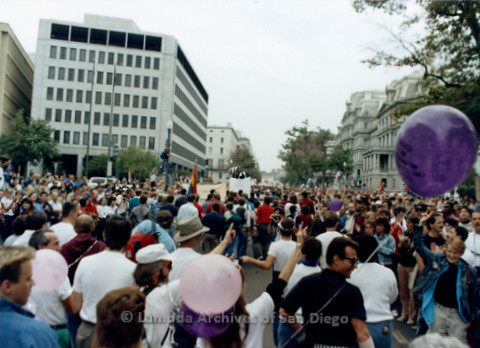 P019.277m.r.t Second March on Washington 1987: People marching on street