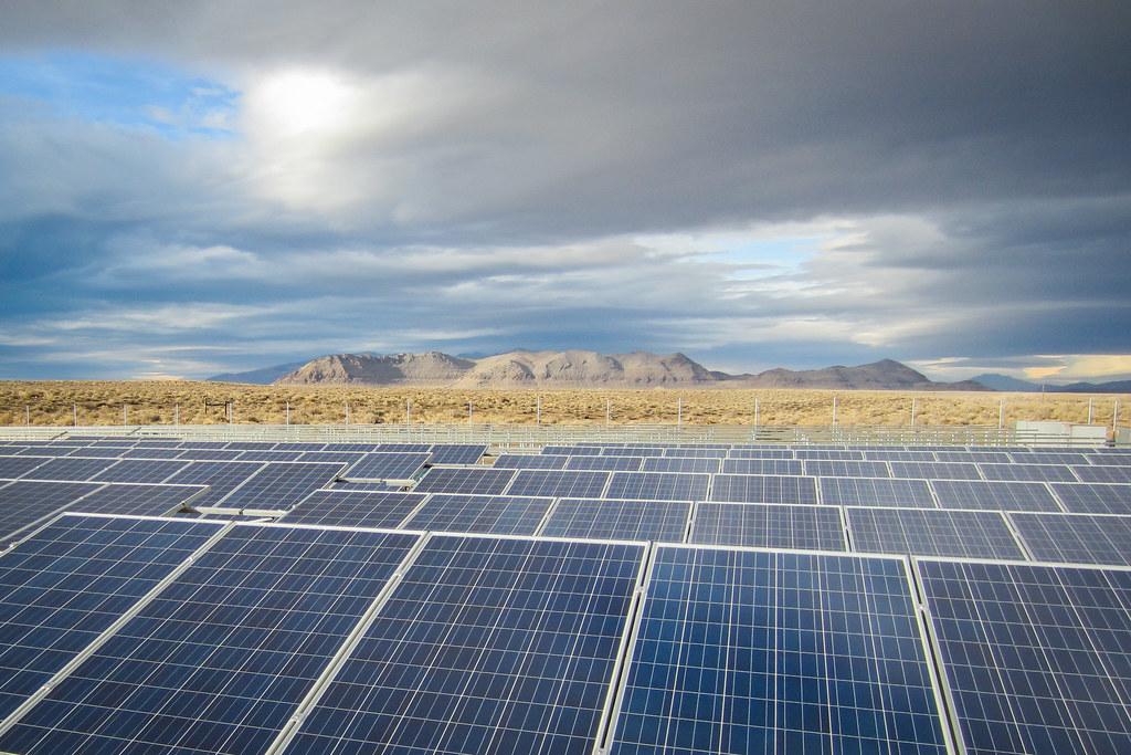Black Rock Solar photovoltaic array at Pyramid Lake High School
