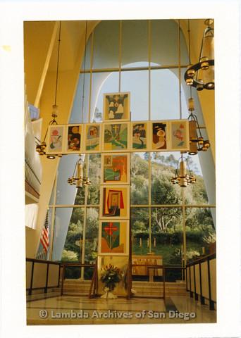 "P126.047m.r.t Tim Grummon's artwork ""Panels Of Love"" on exhibit"
