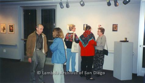 P126.044m.r.t Michelangelo Project by Jim Machecek: Visitors standing around exhibit