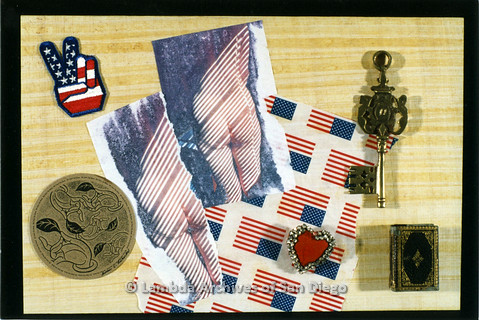 P126.030m.r.t Susan Richards: Collection of America themed images and trinkets