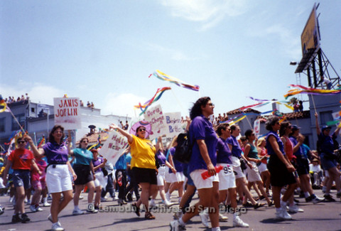 San Diego LGBT Pride Parade, July 1999: San Diego Women's Chorus Marching in the Parade