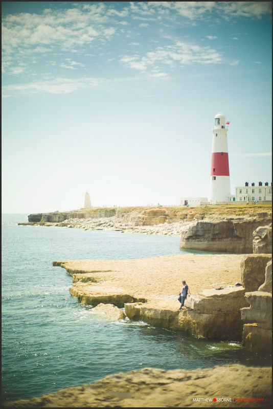 Portland Bill Lighthouse Fisherman