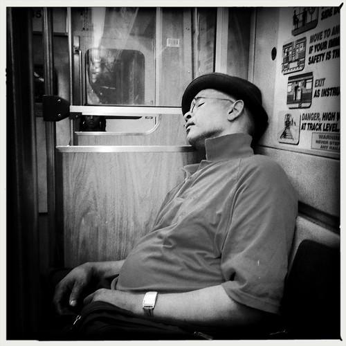 Sleeping on the El
