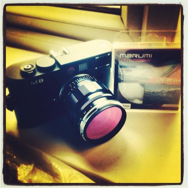 #Leica M8 #Camera + Marumi IR removing filter
