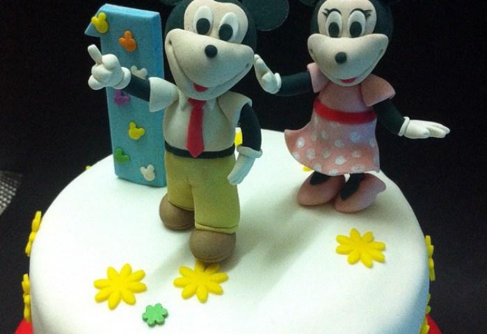 Fondant 3d Mickey Minnie Mouse Birthday Cakes Handcraft Flickr