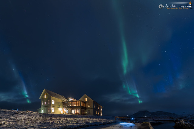 Auroras above Búðir
