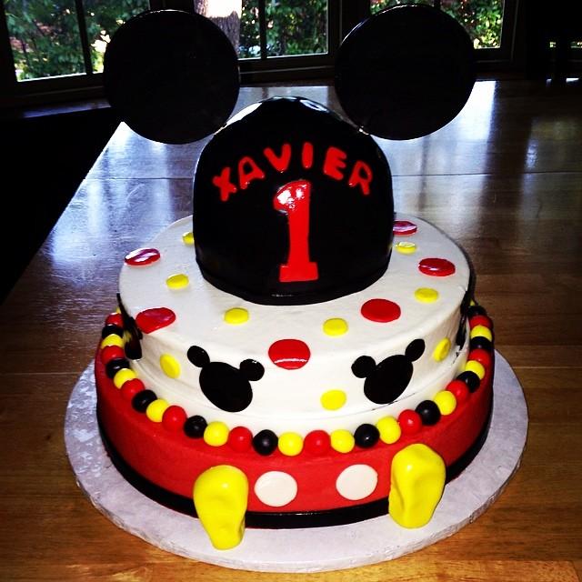 Mickey Mouse 1st Birthday Cake Mickeymouse Disney Polka Flickr