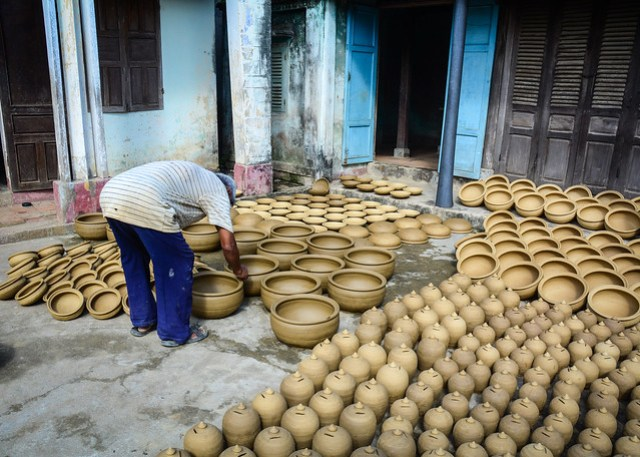 Pottery production base in Hoi An, Vietnam