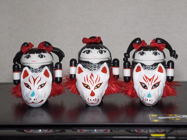 BABYMETAL Bugdroid(YUIMETAL/SU-METAL/MOAMETAL) + Kitsune-Mask[WORLD TOUR 2014 Ver.]