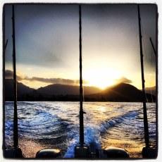 Leaving waianae harbor at the break of dawn. Beautiful. By Phlynn Stone Pennington.