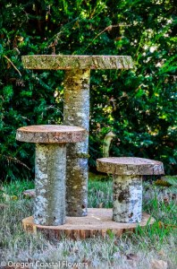 Natural wood cupcake stand