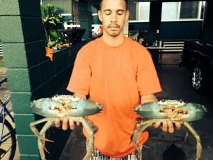 Buddy has crabs!