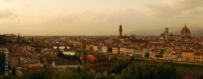Above Florence at Dusk