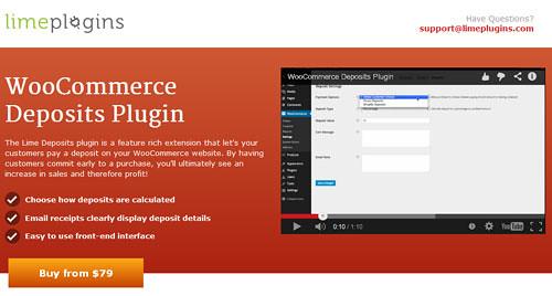 Limeplugins WooCommerce Deposits Plugin ver1.3.5