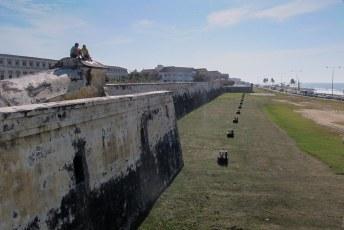 De verdedigingsmuren van Cartagena.