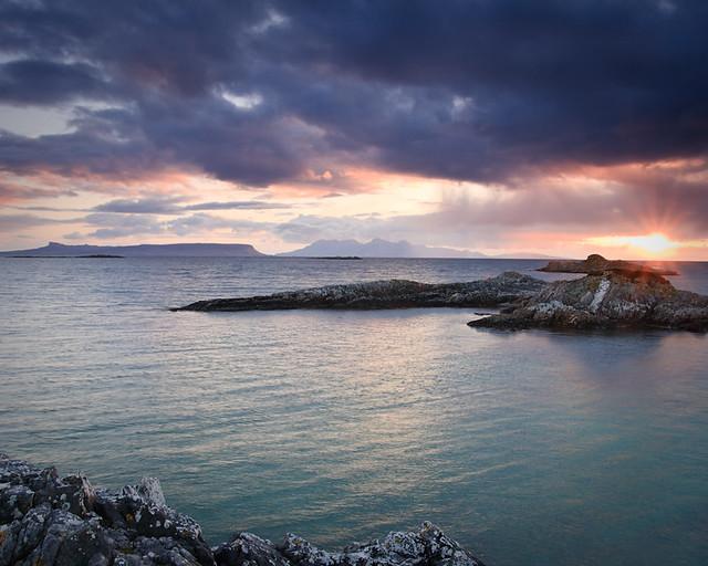 Sunset near Eigg and Rum