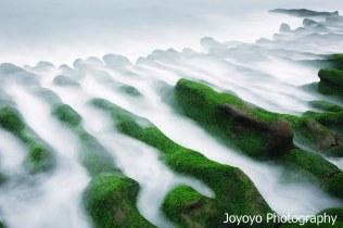 石門鄉老梅石槽-綠藻 Taiwan Northern Coast