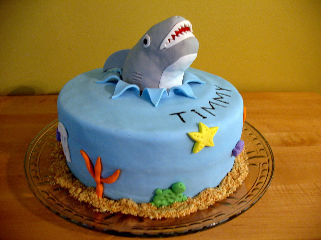 Shark Cake Shark Cake For A 4 Year Old Boy The Shark Is M Flickr