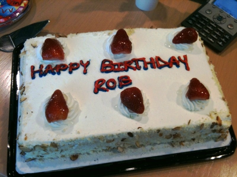 Rob S Birthday Cake Given To Rob On His Birthday Over Flickr