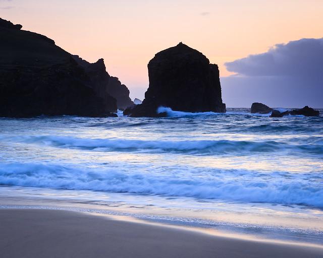Dhail Beag Sea-stack Silhouette