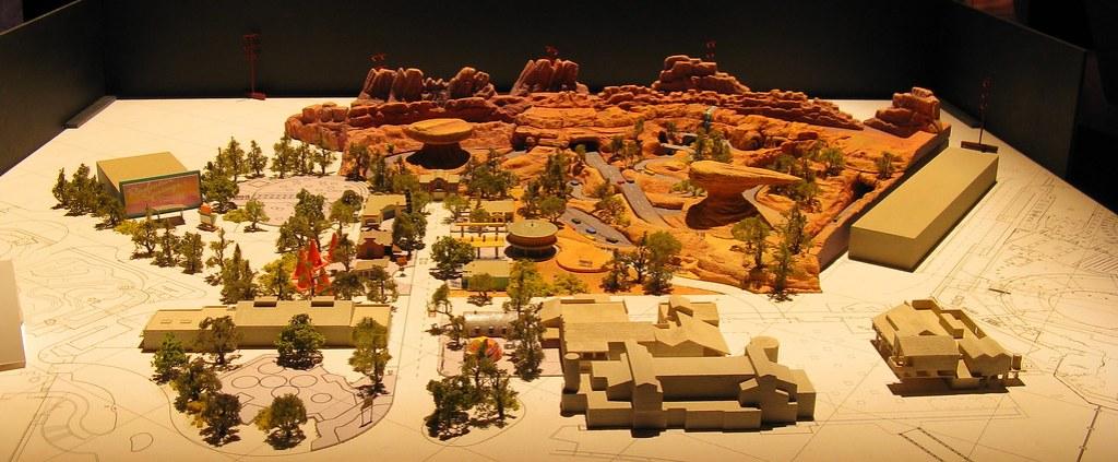 Model of Carsland, California Adventure Expansion Concept Art