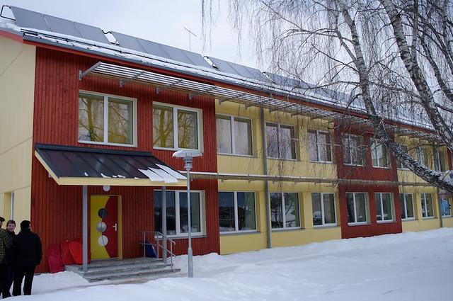 Refurbished with passive house components, kindergarten in Estonia Valga